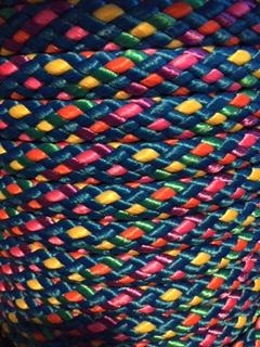 Blauw/roze/geel gemêleerd
