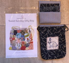 Sweet Sunday Dilly Bag, block print