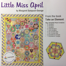 Little Miss April mallenset / template set