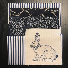 Indigo bag with blue print