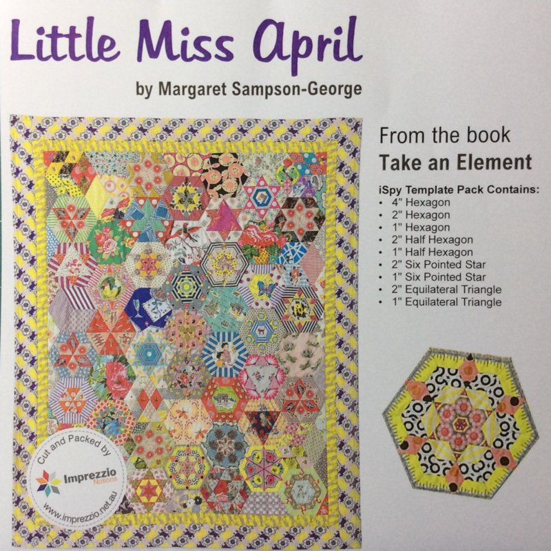 Little Miss April mallenset / template set