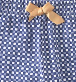 Little Label - meisjes pyjama checkered blue - 122-128