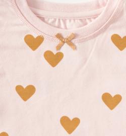 Little Label - baby pyjama hearts pink - 92