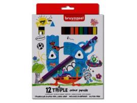 Bruynzeel - Kids 12 driekantige kleurpotloden met slijper