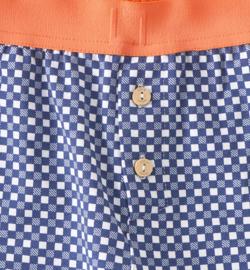 Little Label - jongens pyjama checkered blue - 110-116