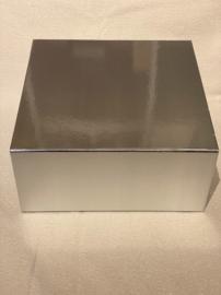 Luxe geschenkdoos met magneetsluiting zilver