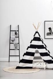 Kid's Concept Tipi Tent Zwart/Wit