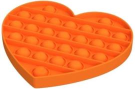Pop It - Oranje - Hart