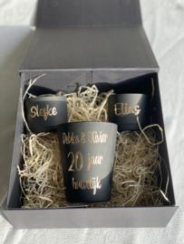 Zwarte geschenkdoos