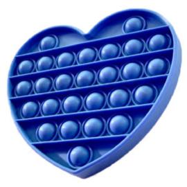 Pop It - Blauw - Hart
