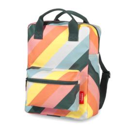 Rugzak medium 'Stripe Rainbow'