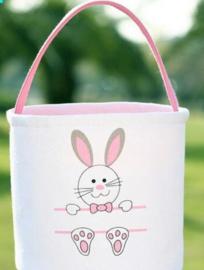 Funny Bunny Basket - Lichtroze