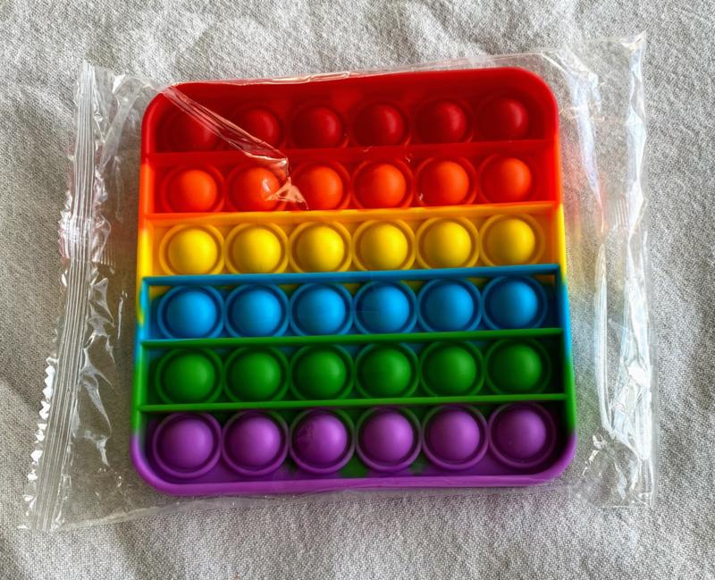 Pop It - Regenboog - Vierkant