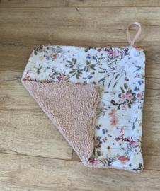 Speendoek roze/bloemen