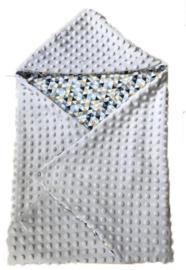 Omslagdoek grijs/driehoek