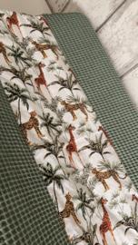 Aankleedkussenhoes Jungle giraffe/ groen