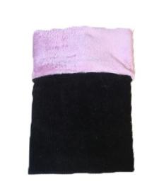 Deken zwart/roze