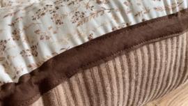 Droogbloemen/rib beige met bruine band