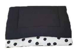Boxkleed zwart/witte dot