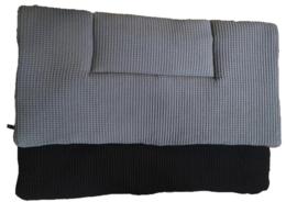 Boxkleed grijs/zwart