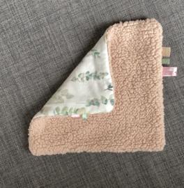 Knuffeldoekje roze/eucalyptus