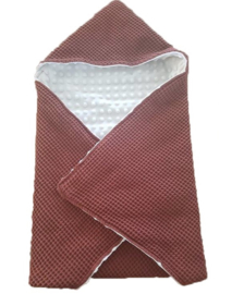 Omslagdoek rood/wit