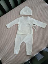 New Born setje 3 delig off white
