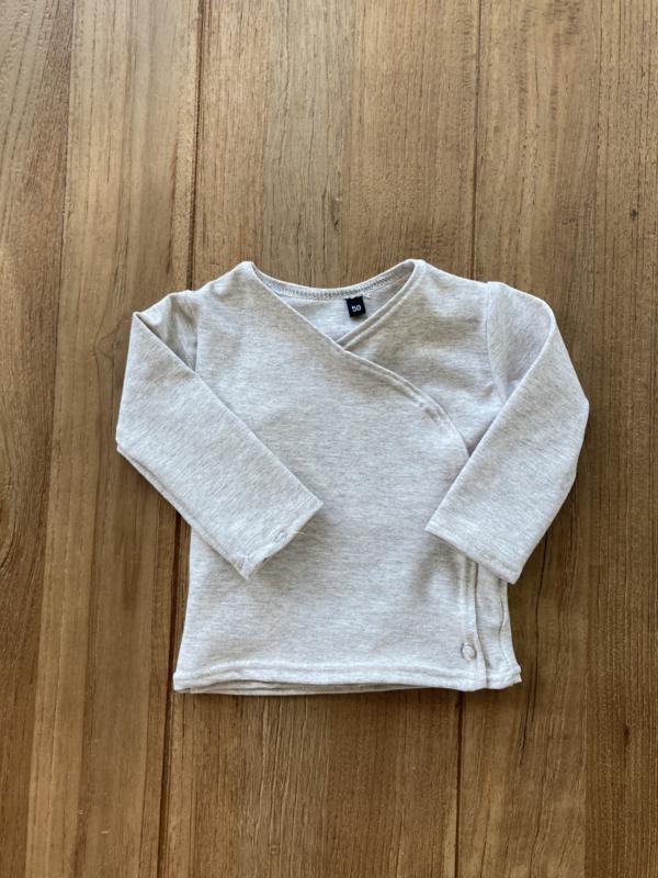 Overslag shirtje softtone beige