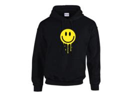 Melting smiley hoodie