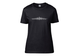 Audio wave t-shirt woman semi-fit