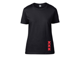Amsterdam crosses t-shirt woman semi-fit
