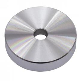 Puck Single Center  Piece Aluminum silver