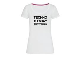 Techno Tuesday Amsterdam t-shirt woman body fit