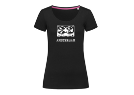 Amsterdam tape t-shirt woman body fit