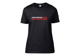 Amsterdam flag t-shirt woman semi-fit