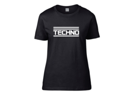 Techno t-shirt woman semi-fit