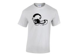 Headphone horizontal t-shirt men
