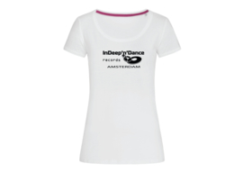 "InDeep'n'Dance Records ""Classic"" t-shirt woman body fit"