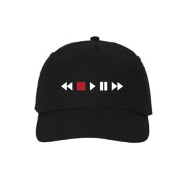 Audio player icons baseball cap
