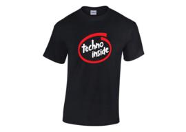 Techno inside t-shirt men