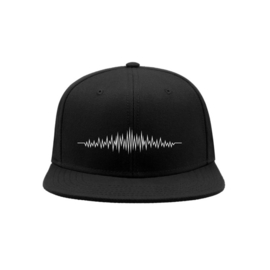 Audio wave snapback cap