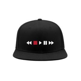 Audio player icons snapback cap