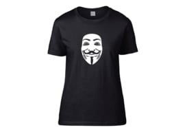 Anonymous mask t-shirt woman semi-fit
