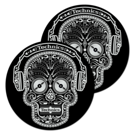 Slipmats (pair) Technics Skull & Phones (Black)