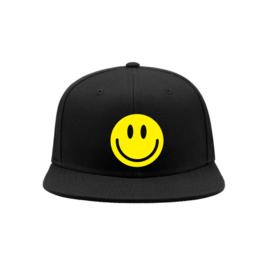 Smiley snapback cap