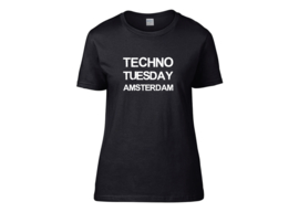 Techno Tuesday Amsterdam t-shirt woman semi-fit
