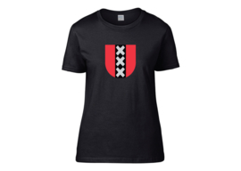 Amsterdam symbol t-shirt woman semi-fit