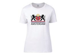 Amsterdam coat of arms t-shirt woman semi-fit
