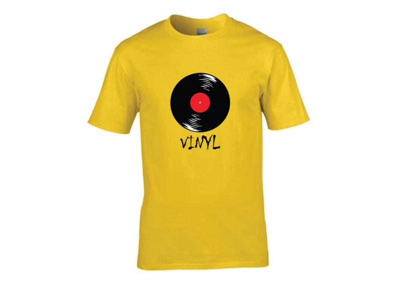 Vinyl t-shirt men