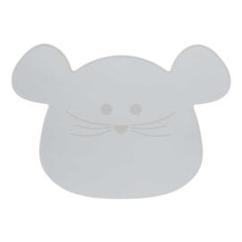 Placemat Little Chums Mouse Grijs